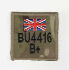 MULTICAM MTP ZAP BADGE + R/W/B UNION JACK 75mm x 75mm hook & loop backed