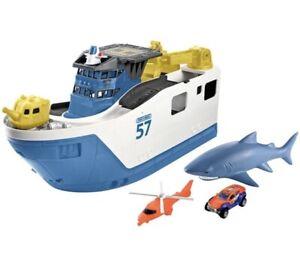 Matchbox Mission Marine Rescue Shark Ship-See Photos