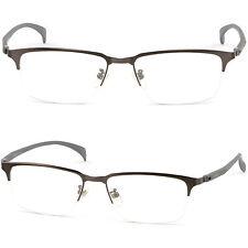 Leicht Halbrand Herren Damen Brille Brillengestell Titan Metall Fassung Schwarze