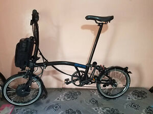 brompton m6l electric e bike black 2019  in very good condition express shipping