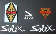 ***NOUVEAU***1 LOT DE 5  AUTOCOLLANTS  3300 SOLEX VELOSOLEX