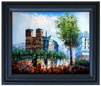Framed Notre-Dame de Paris-2, Quality Hand Painted Oil Painting, 16x20in