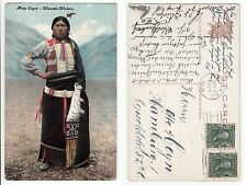 Indios jefe Holy Eagle wanble loca, Native American Indian Chief 1908