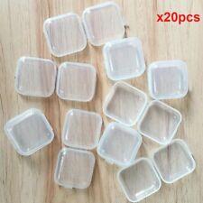 Mini Clear Plastic Small Box Hook Jewelry Earplugs Container Storage
