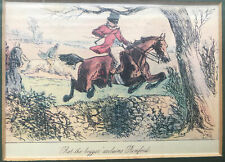 'Rot the beggar' acclaims Romford antique print-framed-under glass