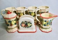 AVON Vintage Sweet Country Harvest Set Lot - Mugs, Napkin Holder, Creamer, Sugar
