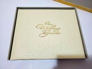 Vintage Hallmark Wedding Guest Book 7.5 X 8 Unused In Original Box