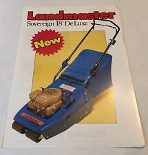 LANDMASTER Sovereign Rotary Mower Wolseley Webb Original 1982 Sales Brochure