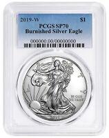 2019 W Burnished Silver Eagle PCGS SP70 - Blue Label