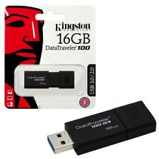 NEW 16GB Kingston Data Traveler 100 G3 USB 3.0 Flash Key Drive Memory Stick 16GB