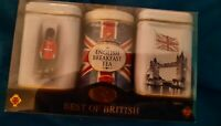 Assorted English Teas- Best Of Britain 3 Collectible Tins   *NEW IN PACKAGE