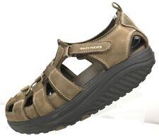 Skechers Shape Up Sandals Fisherman Walking Brown Rocker Women's Size 7.5 US