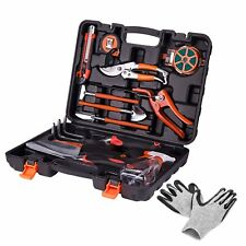 Koram 13-Pieces Garden Tools Kit Plant Care Tool Home Improvement Tool Sets with