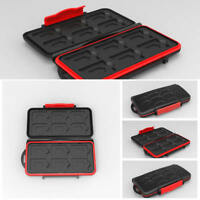 Water Resistant Holder Storage Memory Card Case Fits 12 SD 12 Micro SD TF Cards