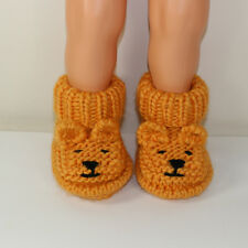 PRINTED KNITTING INSTRUCTIONS-BABY TEDDY BEAR BOOTIES BOOTS KNITTING PATTERN