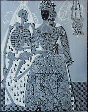 HAP Grieshaber - Die Kaiserin (aus: Baseler Totentanz) - Farbholzschnitt - 1966