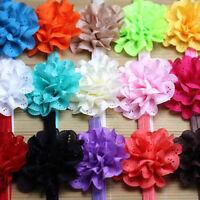 LC_ 1PC/10pcs BAMBINI RAGAZZA bimbo fascia capelli con fiore per accessori Hea