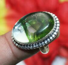 """Dichroic Glass Gemstone Ring 925 Sterling Silver Overlay Us Size 6"""" U252-A11"""