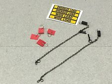 1/64 DCP HEAVY HAUL LOWBOY ACCESSORIES SET  CHAIN, FLAGS & OVERSIZED LOAD DECAL