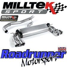 "Milltek Audi S3 8v 3-Door Exhaust 3"" Cat Back Non Resonate Polish GT100 SSXAU393"