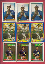 MONTREAL EXPOS CLIFF FLOYD + RONDELL WHITE + MOISES ALOU ROOKIE CARD LOT