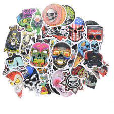 50pcs Mixed Skull Laptap Stickers For Fridge Skateboard Home Decor Doodle ToySC