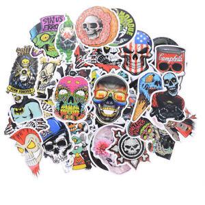 50x Mixed Skull Laptap Stickers For Fridge Skateboard Home Decor Doodle ToRSYU