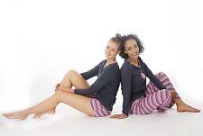 Damen-Pyjama Schlafanzug  3er Set  !! (DW010str)) Baumwolle Jersey Gr.48-50 NEU