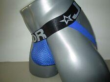 JOR Jock Strap Jock Mesh Black / Blue 0306 (M)