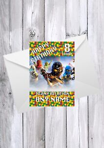 LEGO NINJAGO Birthday Card, Any Relation, name and age
