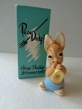 Vintage Pendelfin Phumf Rabbit Figure Nice! Made In England ~ Hand Painted P1