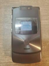 Motorola Razr V3 Flip Razor Cell Phone wireless Cingular Works.