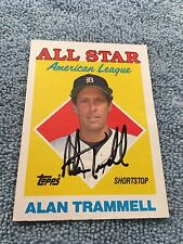 HOF Alan Trammell Autograph Signed Topps 1988 Baseball Card FREE FAST SHIPPING!