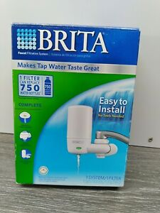 NEW BRITA COMPLETE On Tap Faucet Mount Water Filtration System Filters White