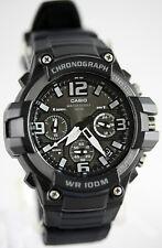 Casio MCW100H-1A3V Mens Analog Watch Chronograph Heavy Duty 100M WR Black Quartz