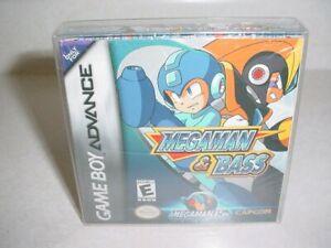 Megaman & Bass Mega Man - Gameboy Advance GBA - In Cellophane w/Box Protector!
