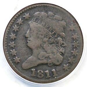 1811 C-2 R-3 ANACS VG 8 Classic Head Half Cent Coin 1/2c