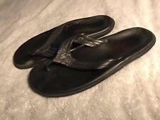 9b10b39c131 Island Slipper Pro Black Leather Men s Thong Flip Flops Sandals Size M11 SC8