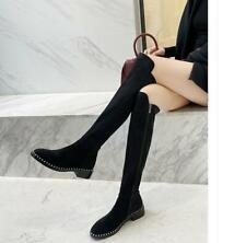 Over the knee Boots Women's slim Flat High Boots Winter New Fashion Knight Boots
