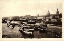 Mainz Rheinland-Pfalz AK ~1920/30 Fluß Rhein Uferpromenade Schiffe Boote Dampfer