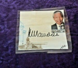 1990's Nelson Mandela handwritten signature