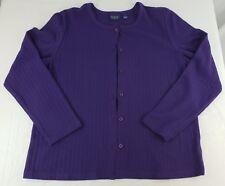 Women's Sweater Gloria Vanderbilt Large Purple Terrific Shape Gently Used