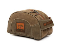 NEW FISHPOND CABIN CREEK TOILETRY KIT BAG IN WAXED CANVAS FREE US SHIPPING