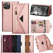 F iPhone 12 11 Pro Max 8 7 6 Plus Magnetic Flip Leather Zipper Wallet Case Cover
