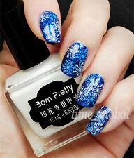 15ml White Nail Art Stamping Polish Nail Stamp Template Varnish Born Pretty