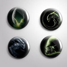 4 ALIEN-  Pinbacks Badge Button 25mm 1''..