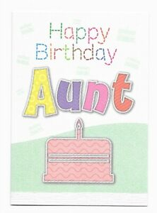 Happy Birthday Aunt Nice Greetings Card Female/For Her -UK Made- Free P&P