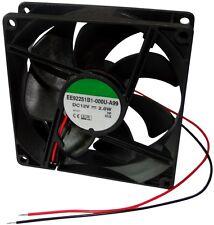 Aerzetix Ventilateur pour Boîtier D'ordinateur PC 12v 92x92x25mm 87 55m3/h 34db