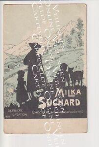 Old Postcard Milka Suchard Switzerland Alps Art Chocolat Publicity