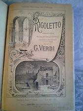 Partition ancienne opéra Rigoletto Verdi Grus